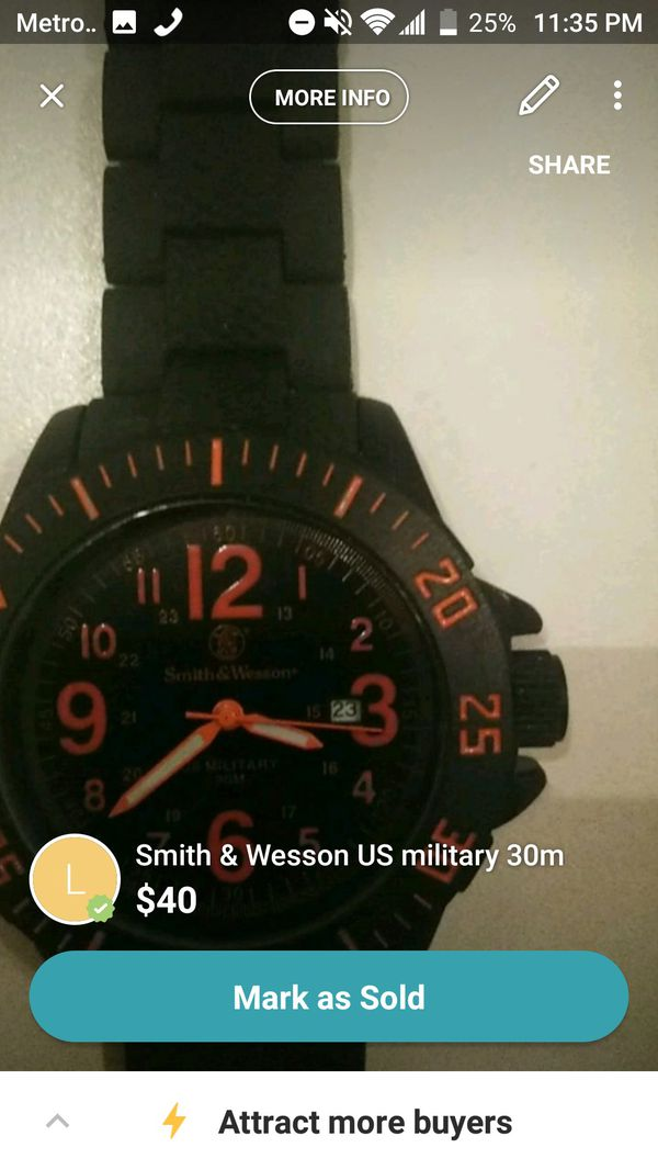 US military Smith and Wesson watch