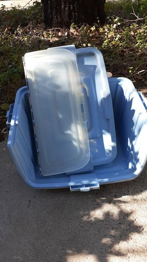 3 blue storage containers for Sale in Corona, CA