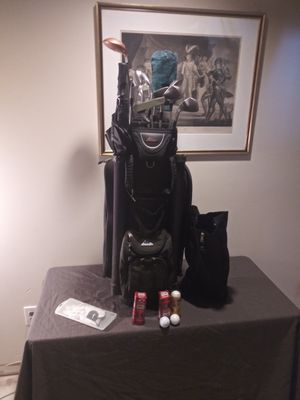 Golf Bag & Clubs with glove and balls for Sale in Silver Spring, MD