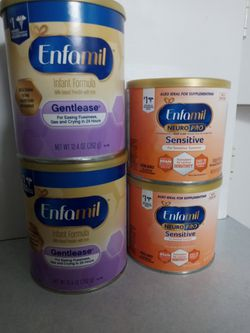 Enfamil Gentlease & Neuropro Sensitive Baby Food Formula Can  for Sale in Belleview, FL