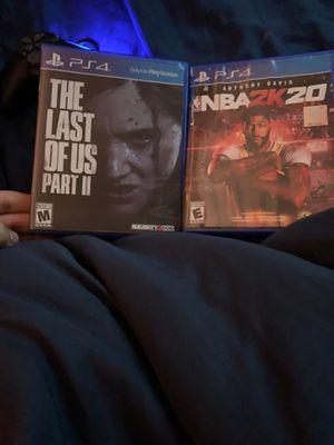 PS4 LAST OF US PART 2 + NBA 2k20 $60 for Sale in Hialeah, FL