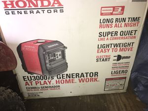 Honda generator inverter electric start for Sale in Pylesville, MD