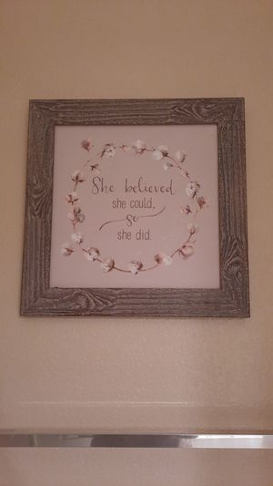 """Rustic wall decor """"she believed she could, so she did"""" for Sale in Claremont, CA"""