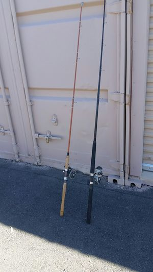Fishing poles with reels $20 each for Sale in Las Vegas, NV
