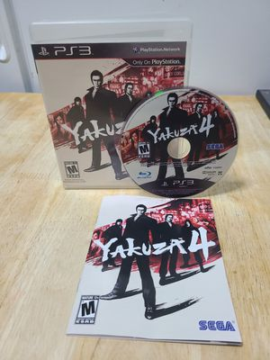 Yakuza 4 ps3 complete for Sale in New York, NY
