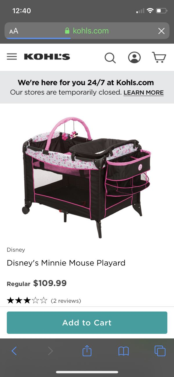 Baby girl Minnie play yard
