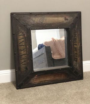 24 x 24 rustic wall mirror for Sale in Henderson, NV