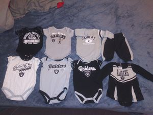 raider onesies for Sale in San Jose, CA