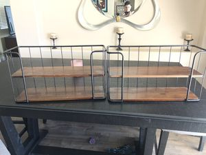 Metal/Wood Wall Shelves for Sale in Fontana, CA