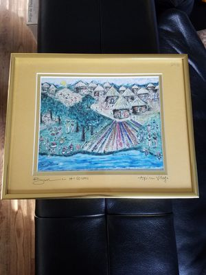 African village painting for Sale in Dunedin, FL