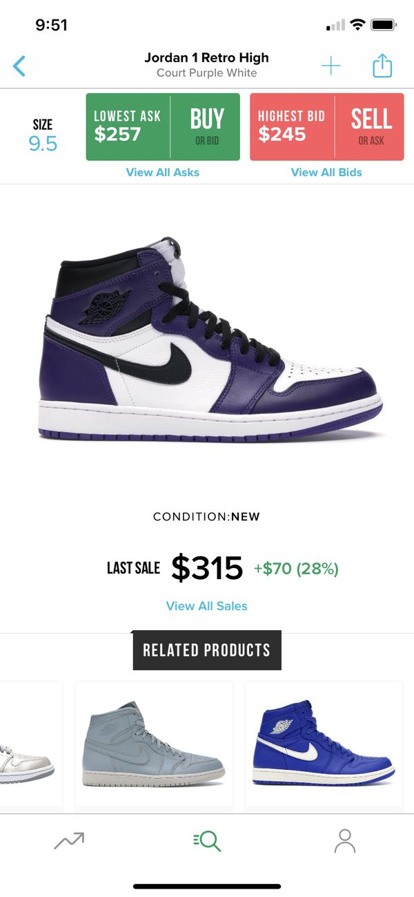 Court Purple 1's
