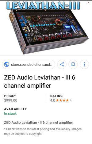 Brand New Leviathan lll - Zed Audio 6 - Channel 1800 Watt Amplifier for Sale in BRECKNRDG HLS, MO