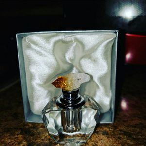Citrine stopper vintage perfume bottle handmade for Sale in Bedford, TX