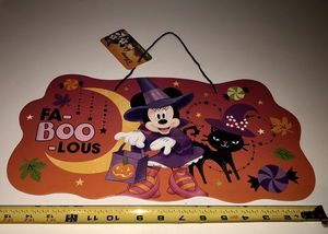 New Disney Minnie Mouse Halloween Sign 8 X 16 Inches for Sale in San Jacinto, CA
