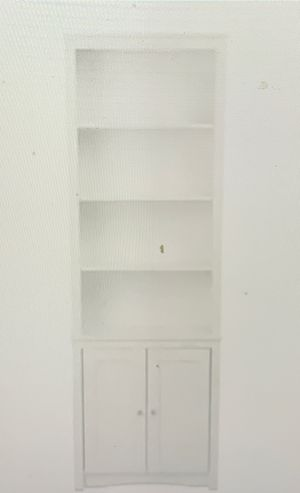 Prepac Tall Bookcase with 2 Shaker Doors White 13c for Sale in Norcross, GA