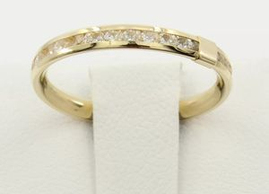 Beautifull 14K Yellow Gold Round Eternity Endless Anniversary Wedding Ring Band. for Sale in Ontario, CA