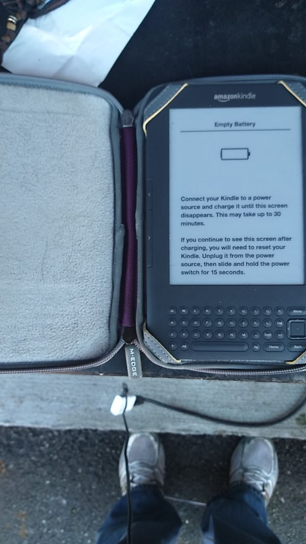 Amazon Kindle with case first $30 gets it