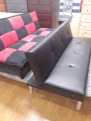 New leather futon for Sale in Joshua Tree, CA