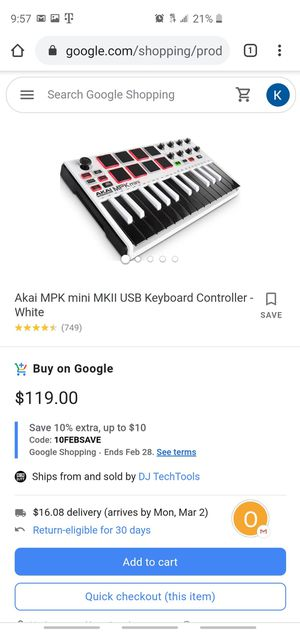 Akai Professional MPK Mini MKII If intrested ask for pictures! for Sale in Gardena, CA