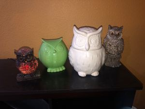 Assorted Owl Decor for Sale in Las Vegas, NV
