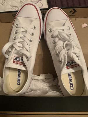 Brand new white womens converse sz 8.5 for Sale in Colton, CA