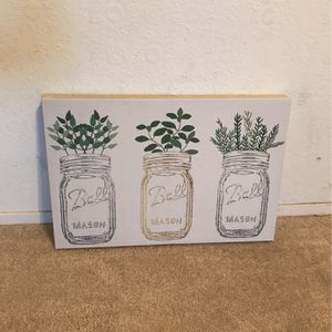 Hanging Mason Jar Canvas for Sale in San Bruno, CA