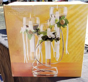 Silver floating 3 piece candle. Set if 8 for Sale in Escondido, CA