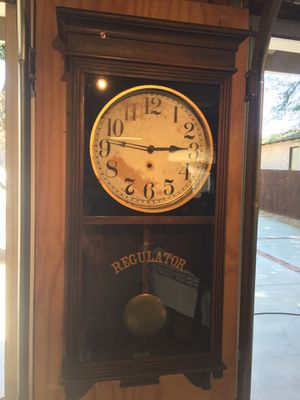 Original Antique Regulator Wall Clock for Sale in Pasadena, CA