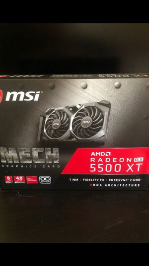 Radeon RTX 5500 Xt & Power Supply Bundle for Sale in Moreno Valley, CA
