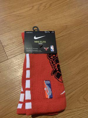 Nike Elite NBA Chicago Bulls Crew Socks *NEW!* MENS MEDIUM for Sale in Aurora, IL