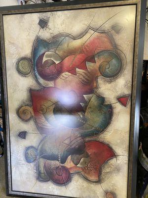 $60 huge picture custom framed for Sale in Fresno, CA
