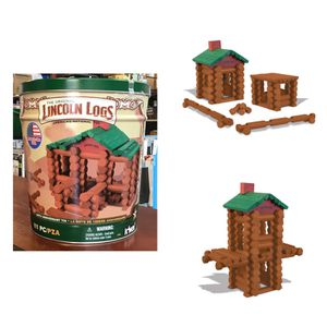 LINCOLN LOGS 100th Anniversary Tin - 111 Pieces - Collectible Tin for Sale in Sugar Land, TX