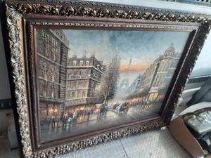 Huge hand painted picture of paris for Sale in Hensley, AR