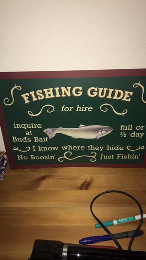Fishing sign . for Sale in Concord, CA