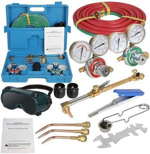 ZENSTYLE Oxygen & Acetylene Gas Cutting Torch and Welding Kit Portable Oxy Brazing Welder Tool for Sale in Ontario, CA