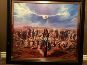 Michael Knepper Sturgis 13' painting for Sale in Payson, AZ