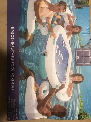 Inflatable pool poker set with chairs for Sale in Portland, OR