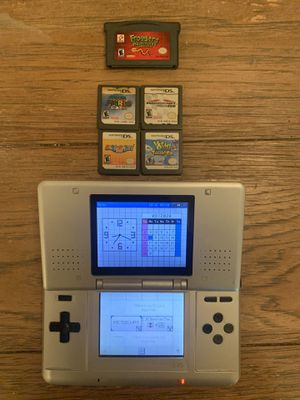 Nintendo ds with gameboy game and ds games for Sale in Greenville, SC