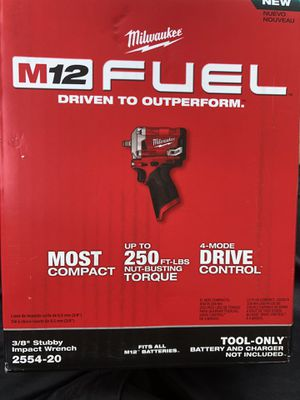 """Milwaukee 2554-20. 3/8"""" Stubby Impact Wrench for Sale in Morton Grove, IL"""
