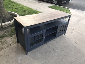 DELIVERY AVAILABLE Charcoal gray farmhouse tv stand / console table for Sale in Round Rock, TX