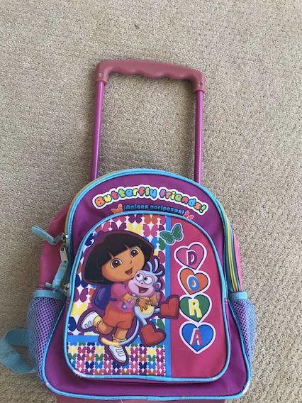 Dora Butterfly Friends Rolling Backpack