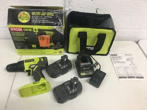 Ryobi 18 Volt Cordless 1/2 in. Drill/Driver Kit (2) 1.5 Ah Batteries Charger Tool Bag for Sale in Mesa, AZ