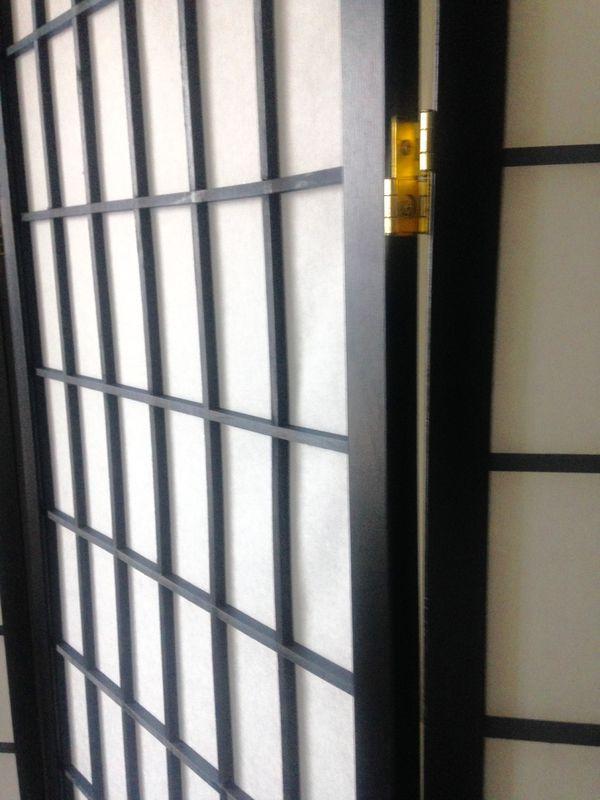 New Black Privacy/Room Divider