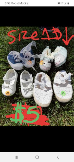 Baby girls shoes sizes 1 and under good condition for Sale in Saint Thomas, PA