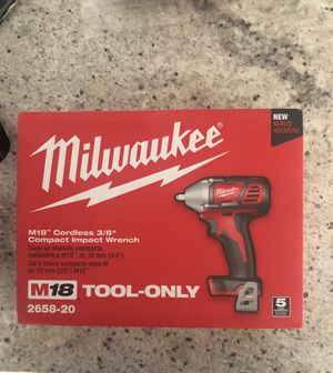 "Milwaukee M18 Cordless 3/8"" Compact Impact Wrench for Sale in Tampa, FL"