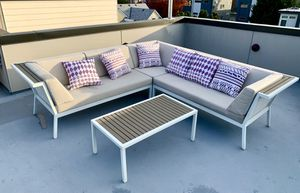 Dania Outdoor Furniture Sofa & Table set with pillows for Sale in Seattle, WA