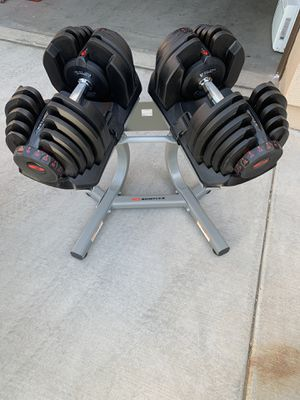 Boflex 1090 Adjustable Dumbbells (set of 2) with Stand for Sale in Chandler, AZ
