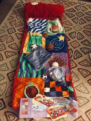 Inflatable and interactive slumber bag (sports balls) for Sale in Ontario, CA