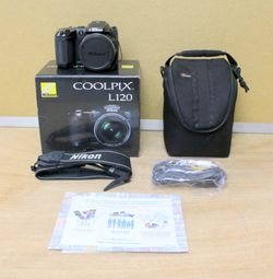 Nikon Coolpix L120 14.1 Megapixels Digital Camera With Box and Accessories for Sale in Lauderhill,  FL