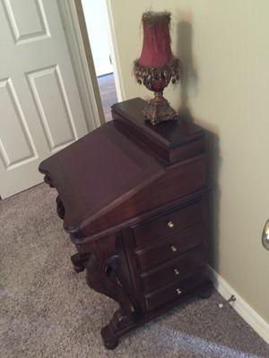 Dark cherry wood secretary desk for Sale in Katy, TX